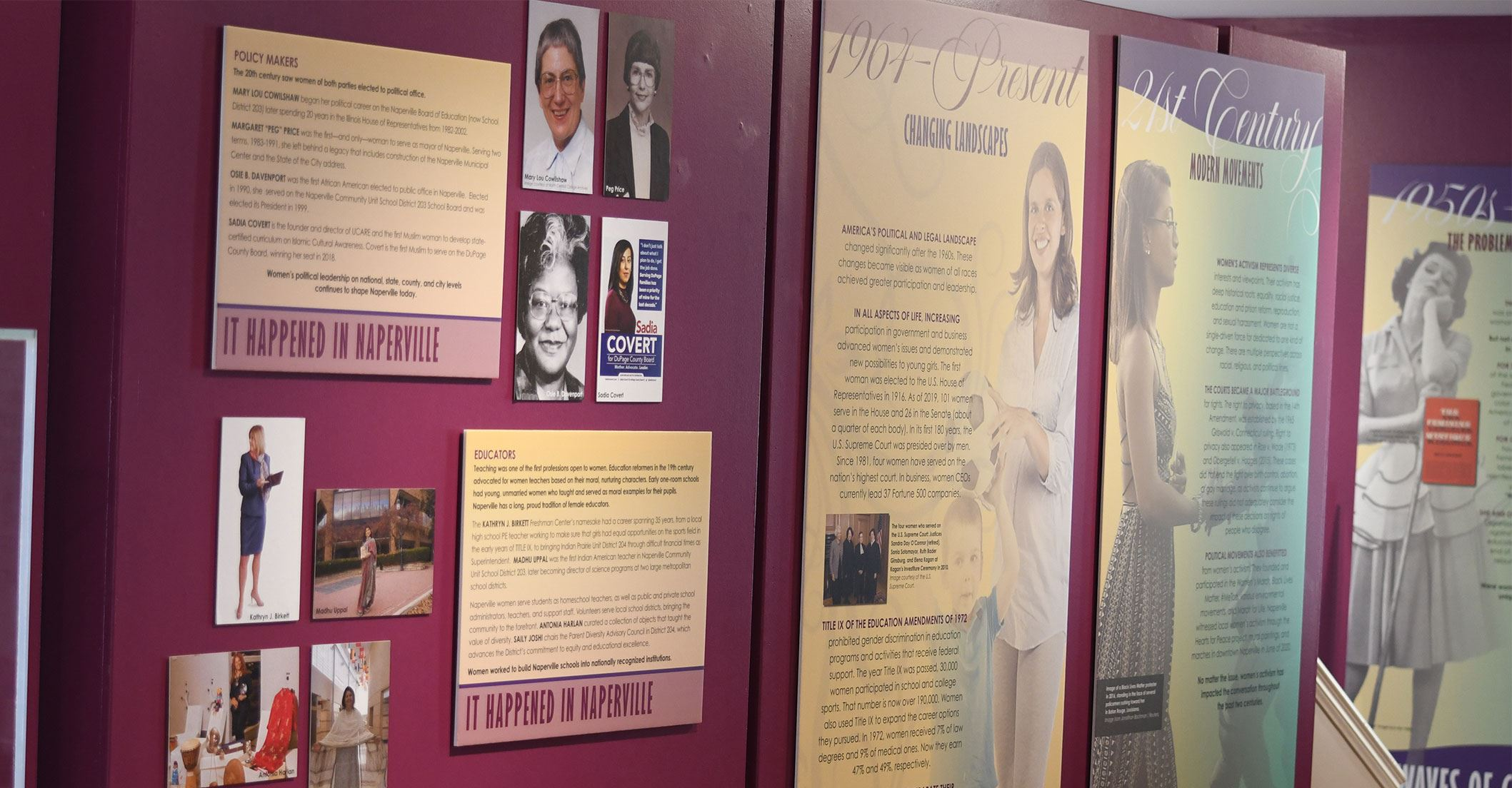 Inside the Women: Waves of Change Exhibit at Naper Settlement