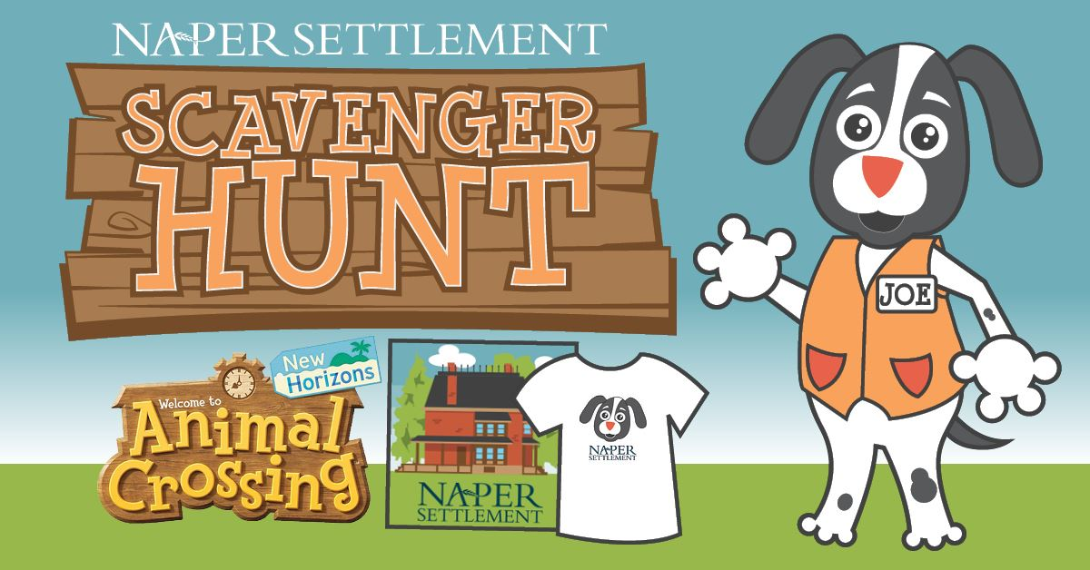 Naper Settlement Scavenger Hunt with prize in Animal Crossing
