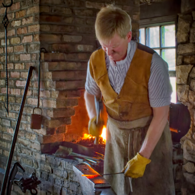 Blacksmith at the forge