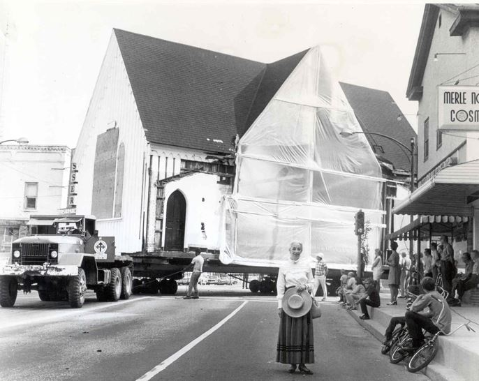 Chapel relocation, 1970
