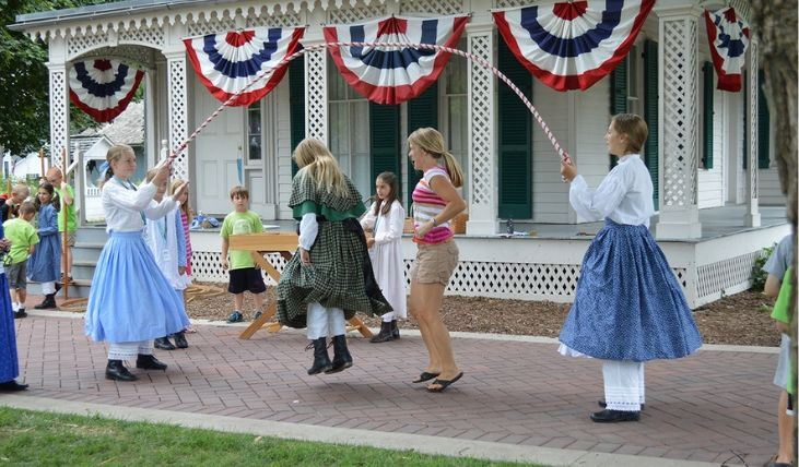 Junior Volunteers on Naper Settlement Grounds