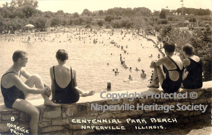People swimming at the Centennial Park Beach