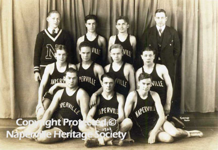 Members of the Naperville High School basketball team
