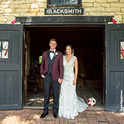 Wedding photo at the Blacksmith Shop
