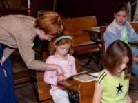 Children learning in the schoolhouse