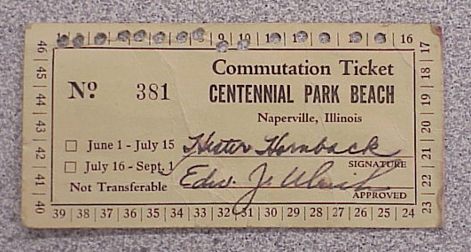 Centennial Park Beach Ticket