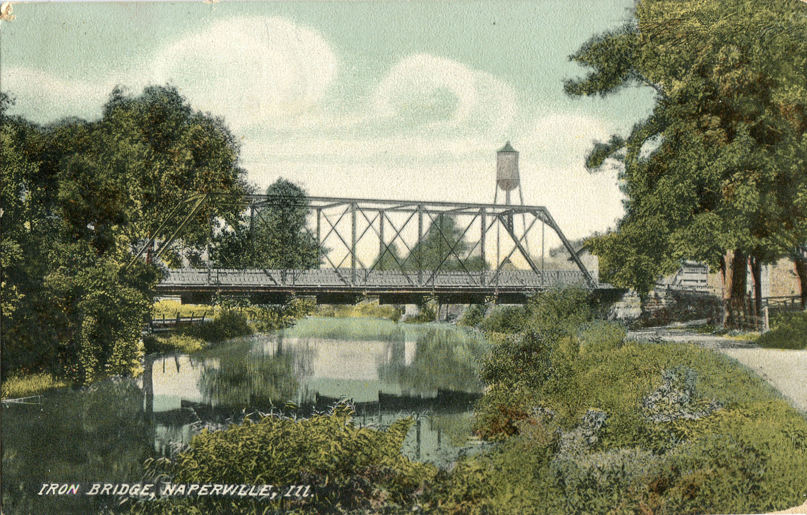 Washington Street bridge postcard