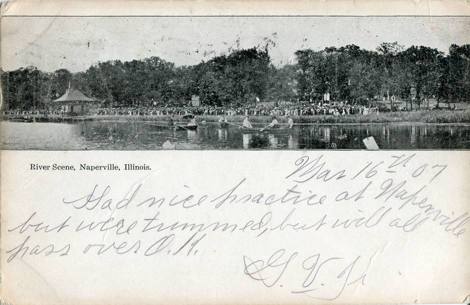 Burlington Park postcard