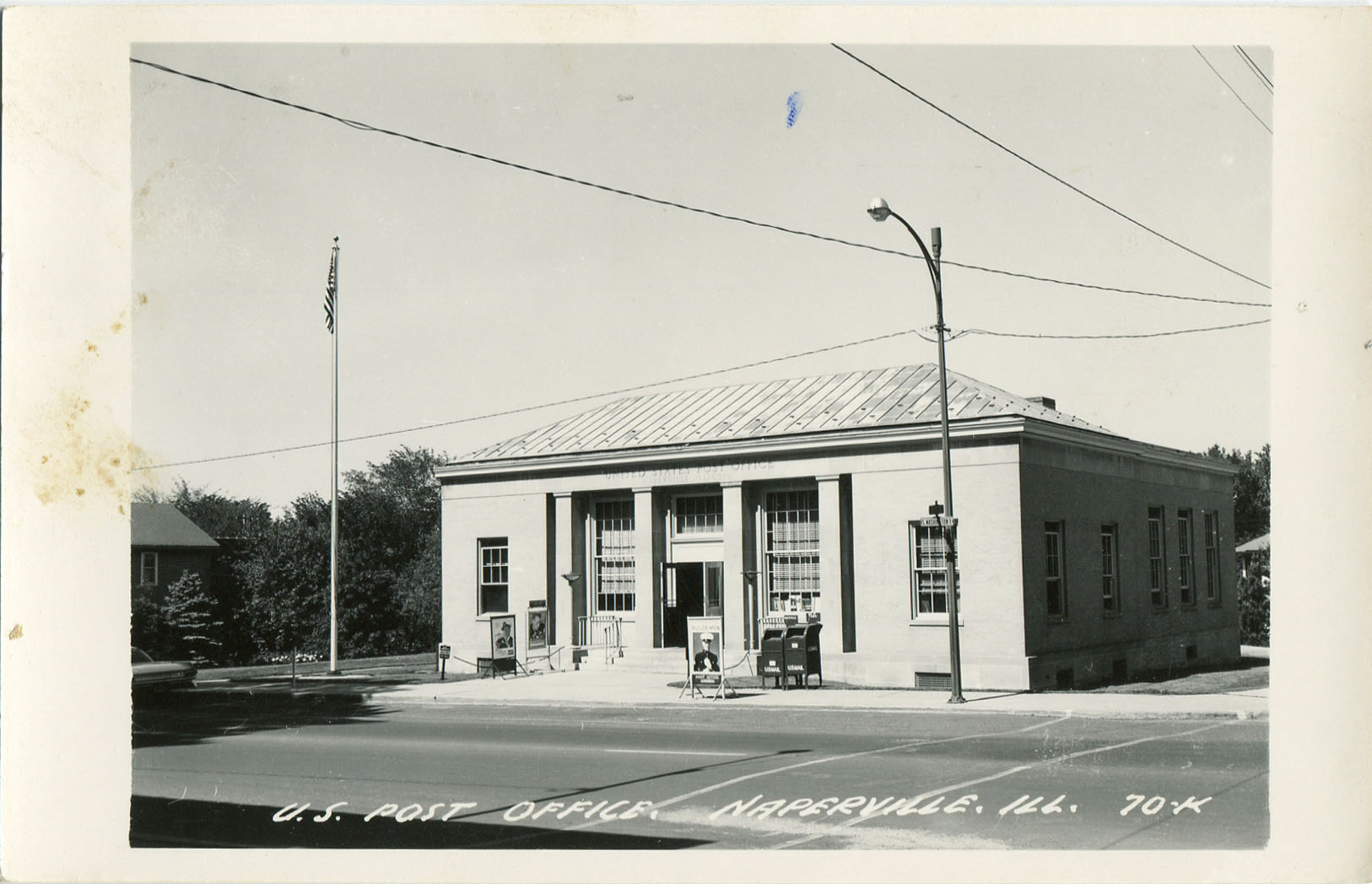 Washington Street post office postcard
