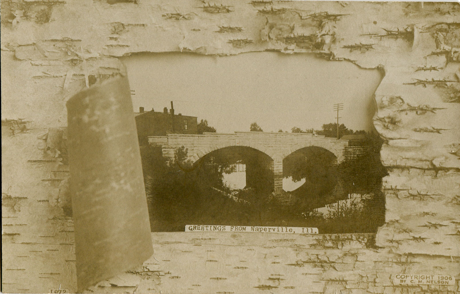 Postcard of bridge