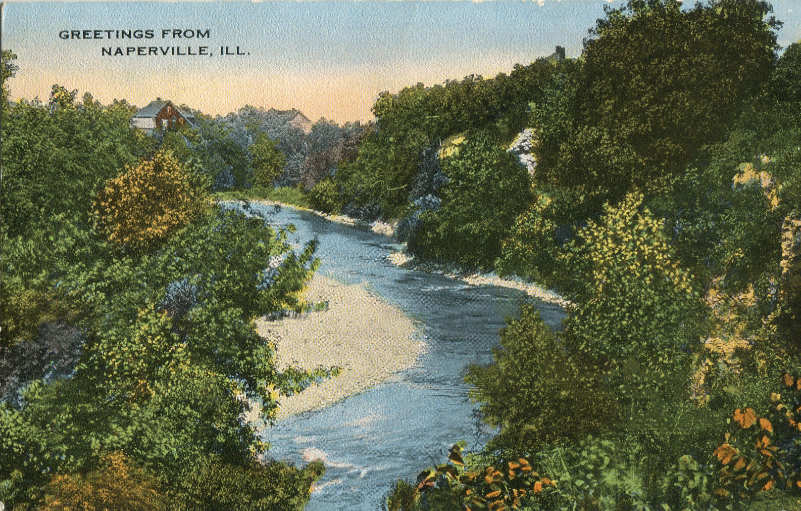 Postcard of river scene