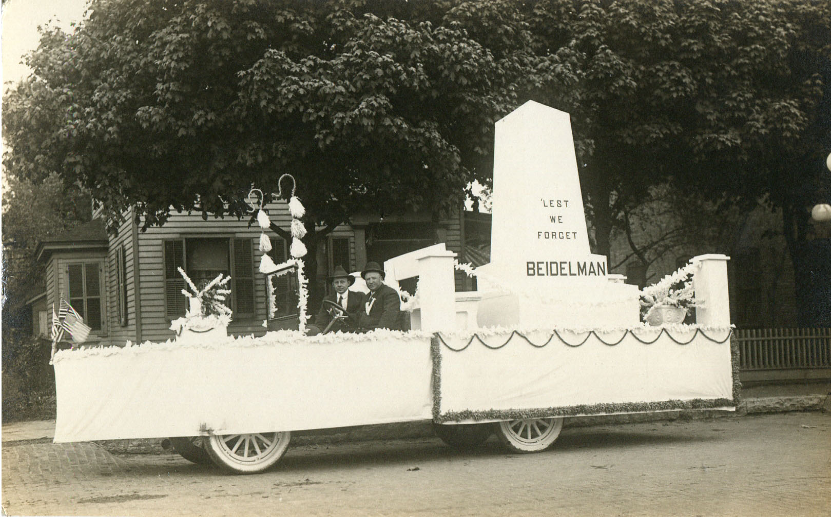 Home Coming parade postcard