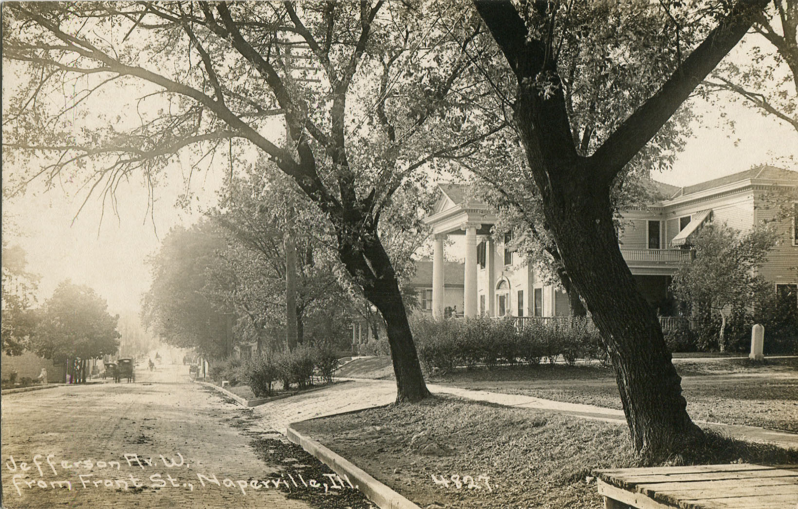 Postcard view of Jefferson Avenue