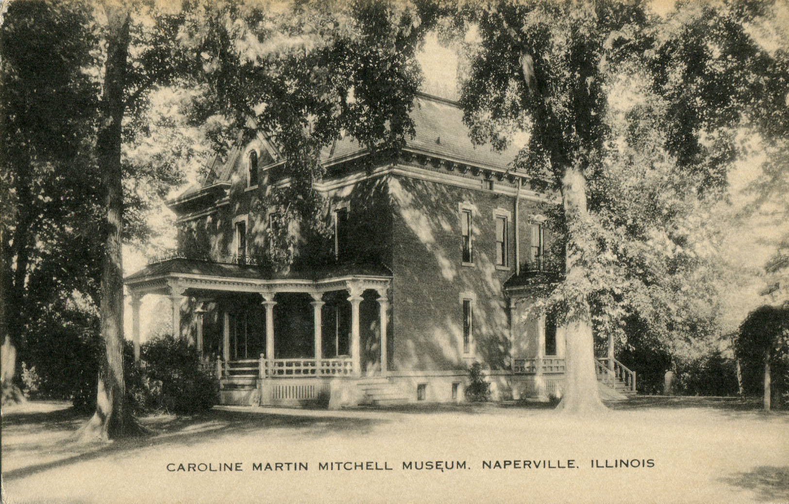 Postcard view of Caroline Martin Mitchell home
