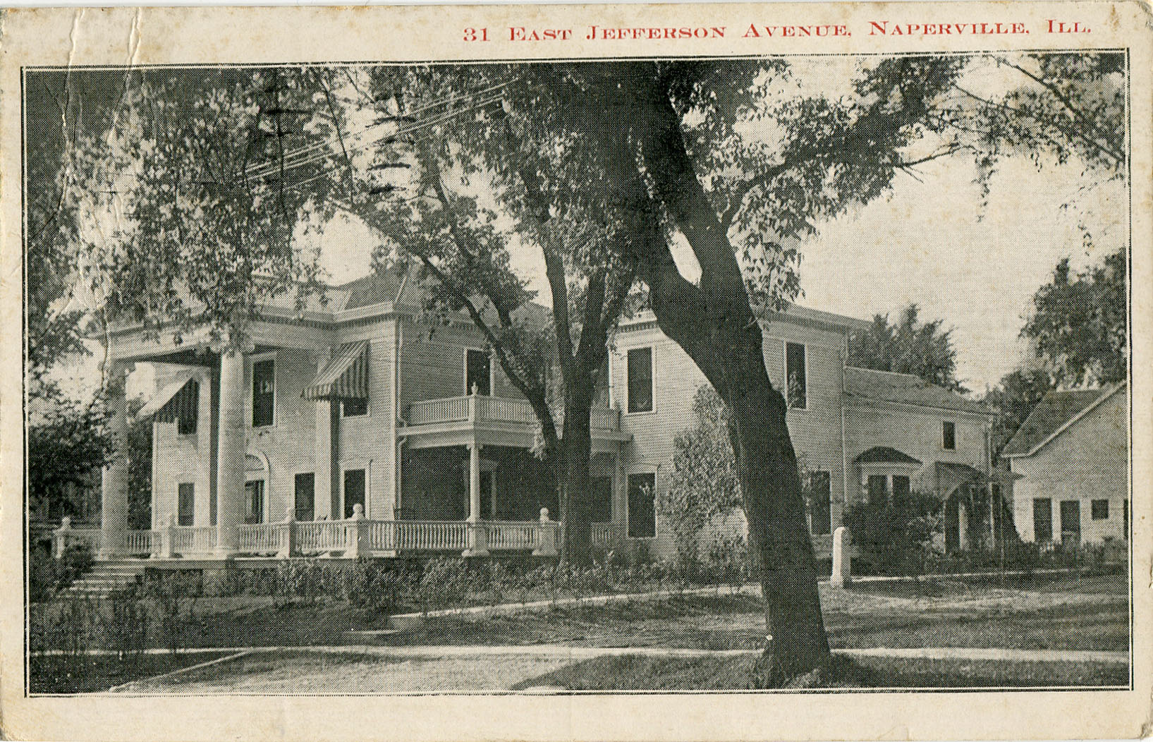 Postcard view of 31 E Jefferson Avenue