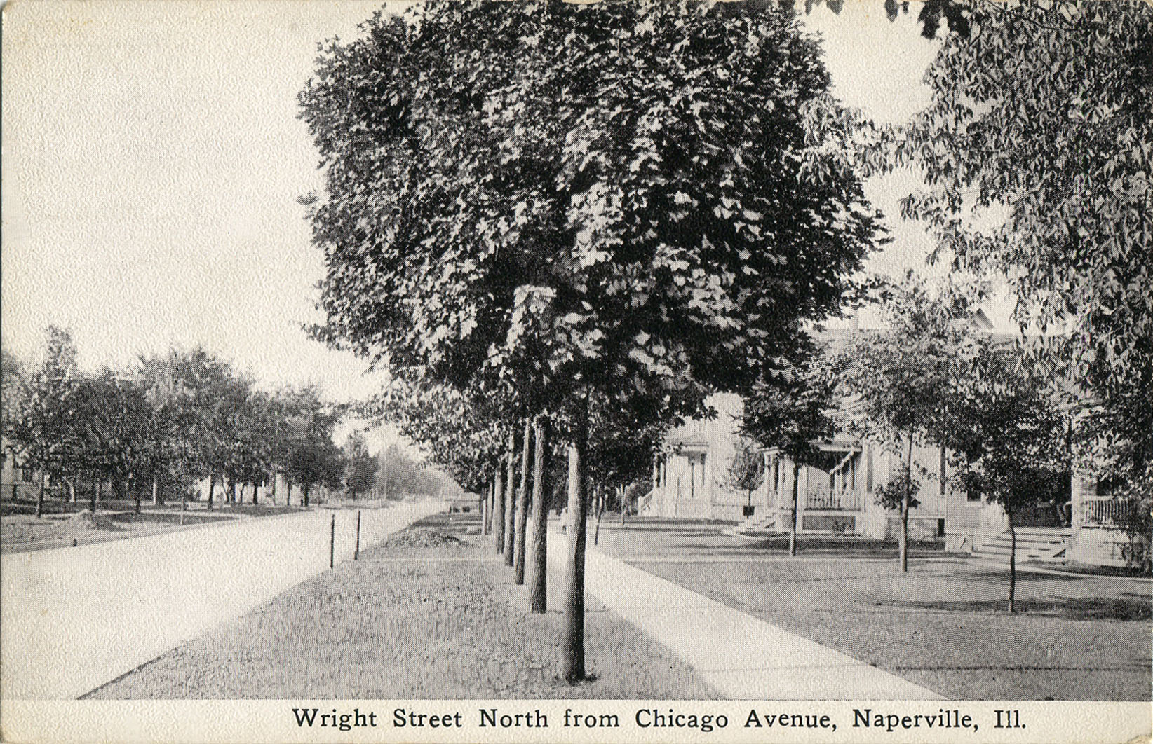Postcard view of Wright Street