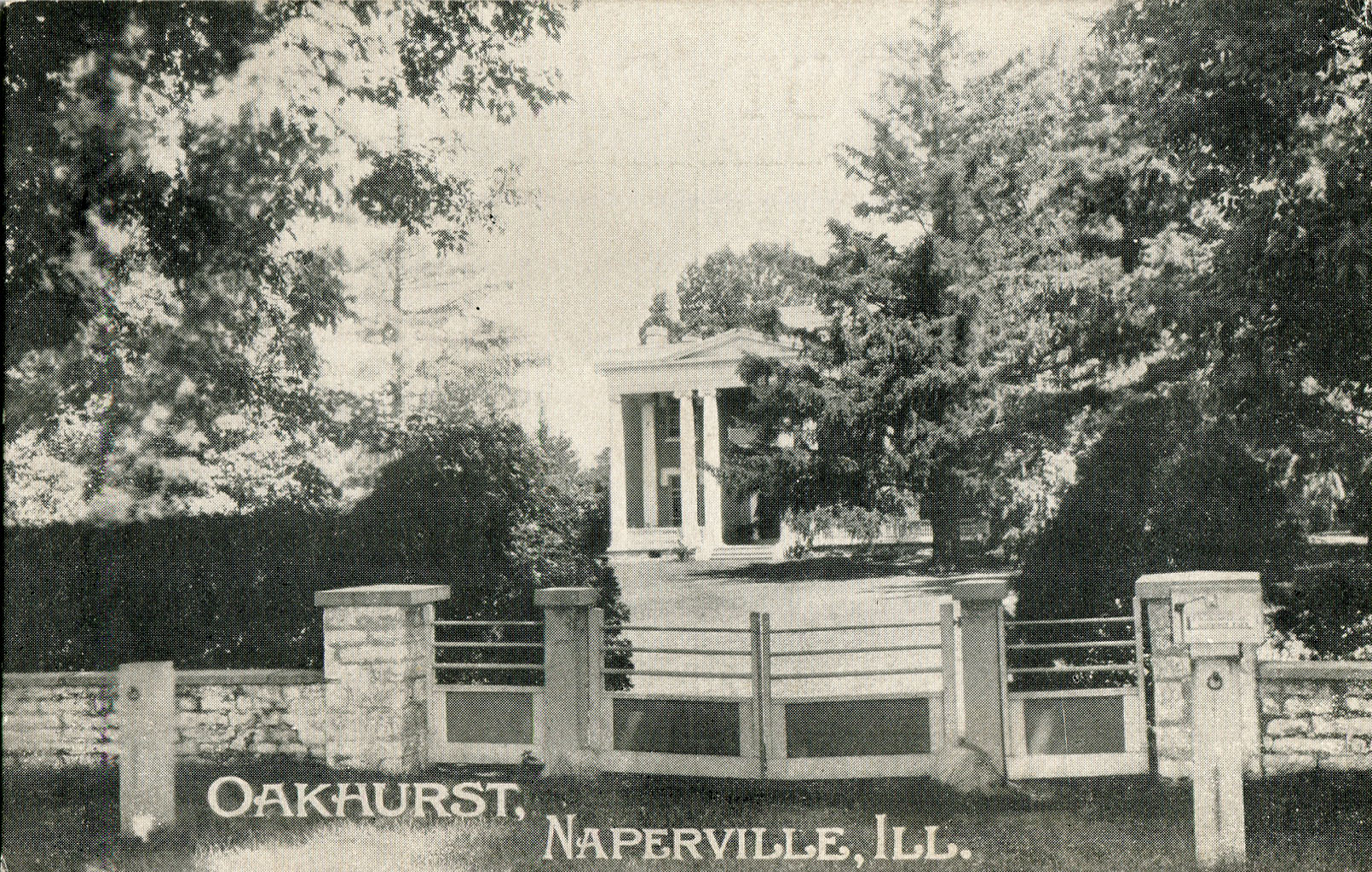 Postcard view of Oakhurst