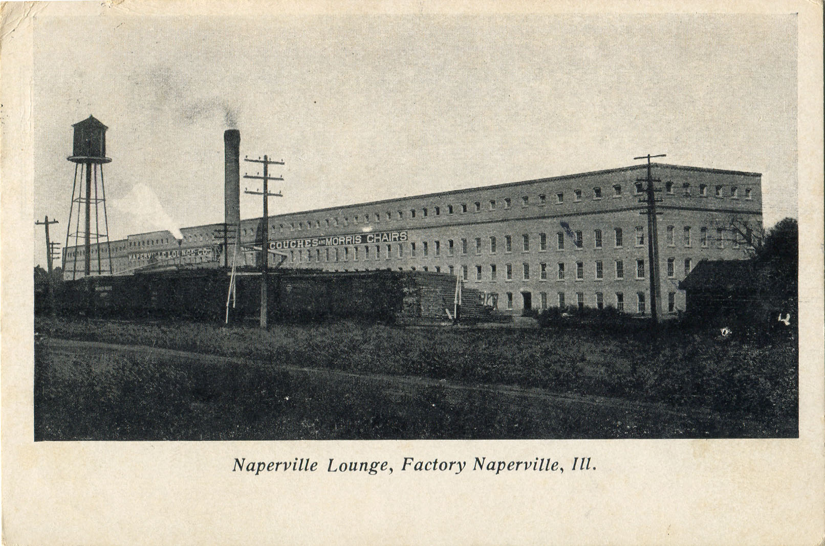 Naperville Lounge Factory postcard