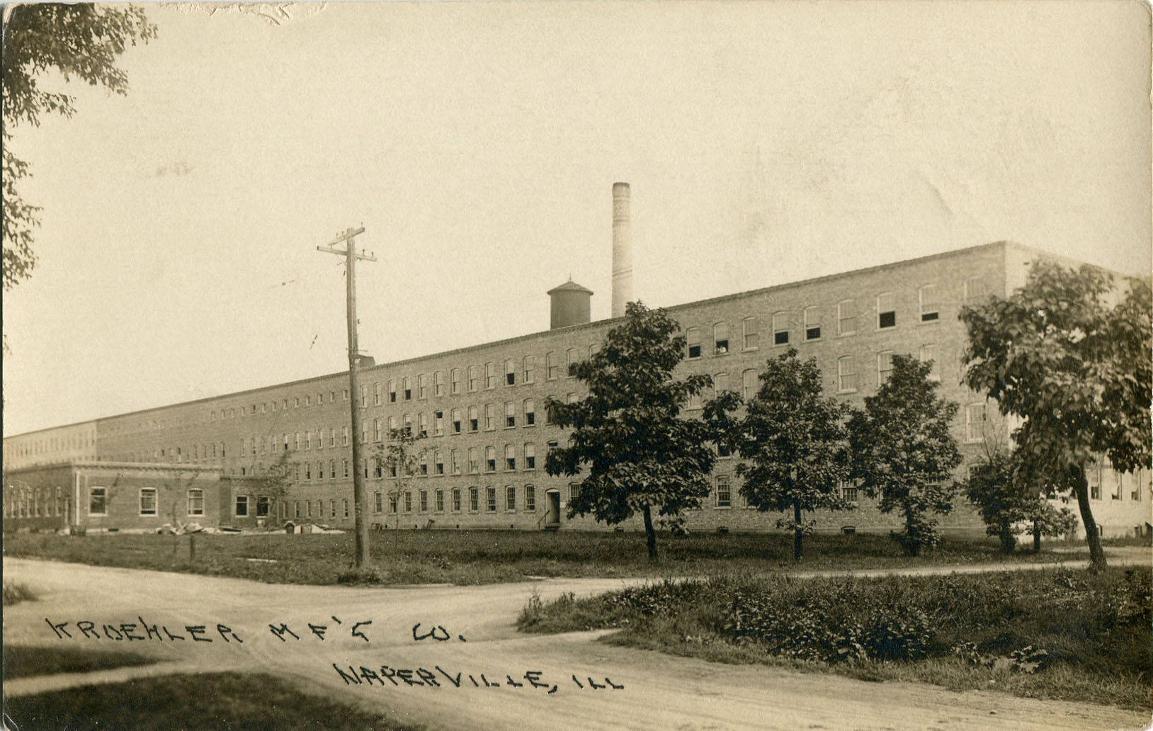 Kroehler Manufacturing Company postcard