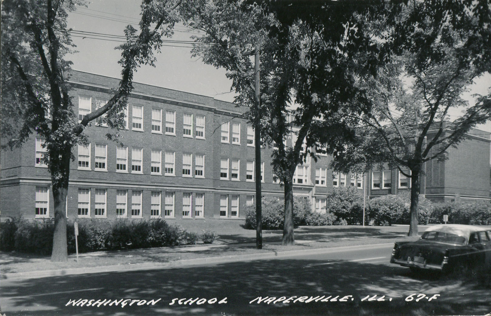 Washington School postcard