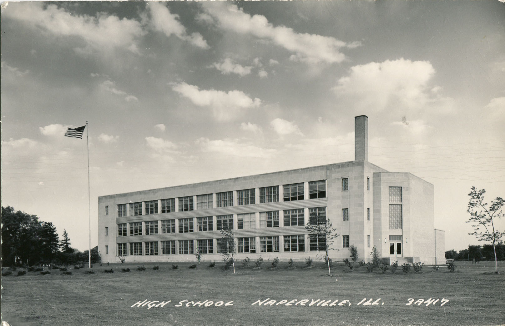 Naperville High School postcard