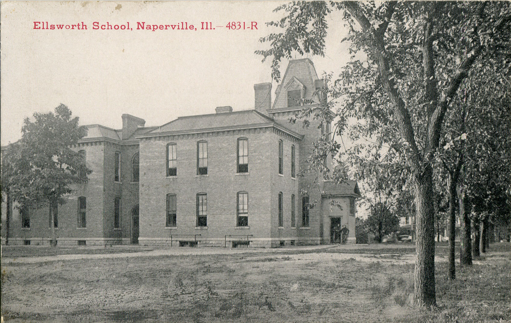 Ellsworth School postcard