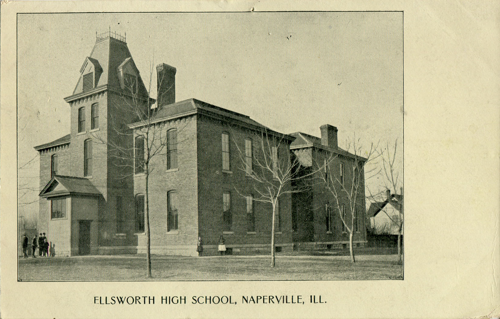 Ellsworth High School postcard