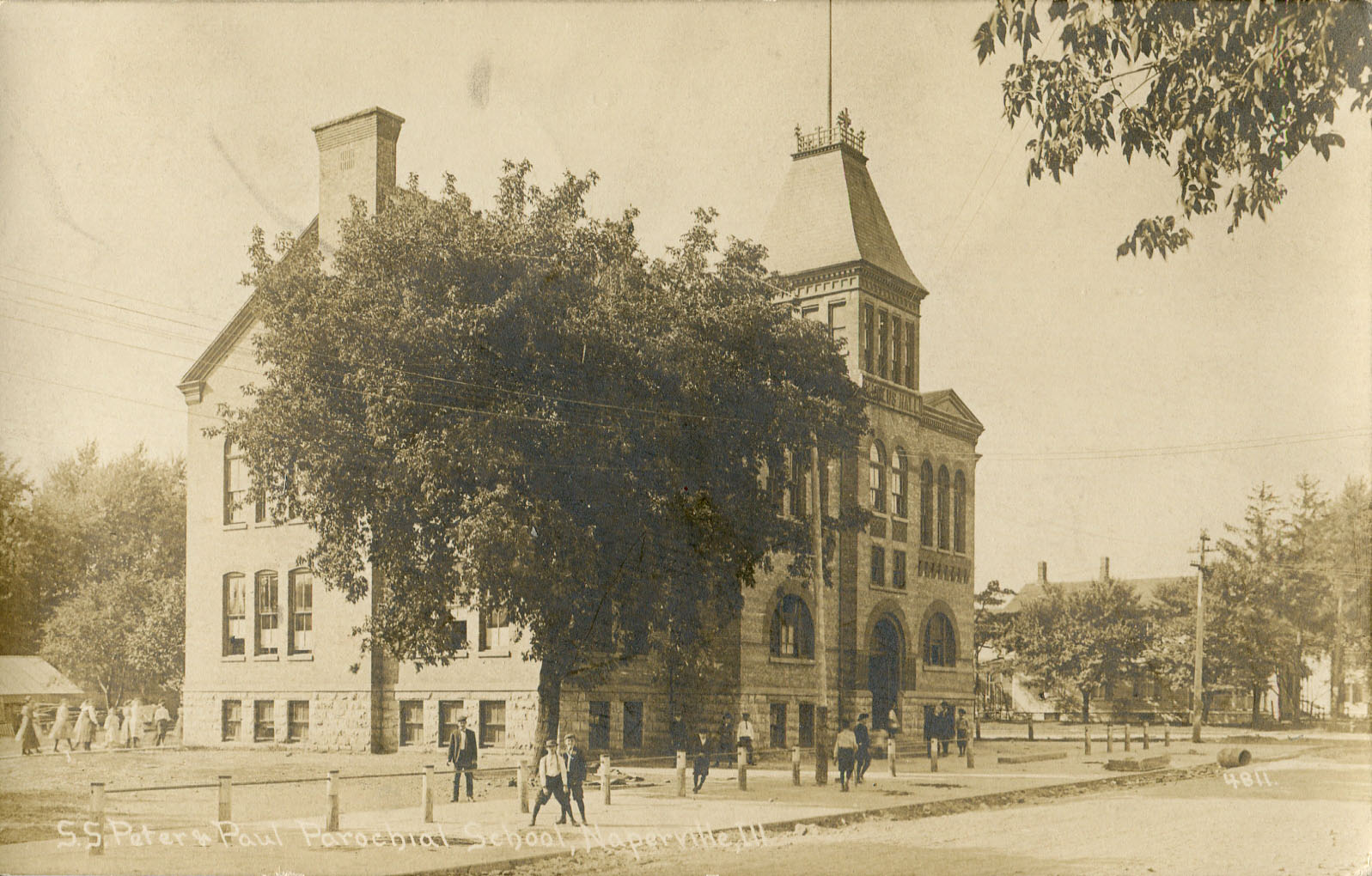 SS Peter and Paul School postcard