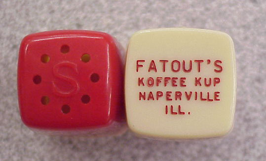 Fatout's Salt and Pepper Shakers