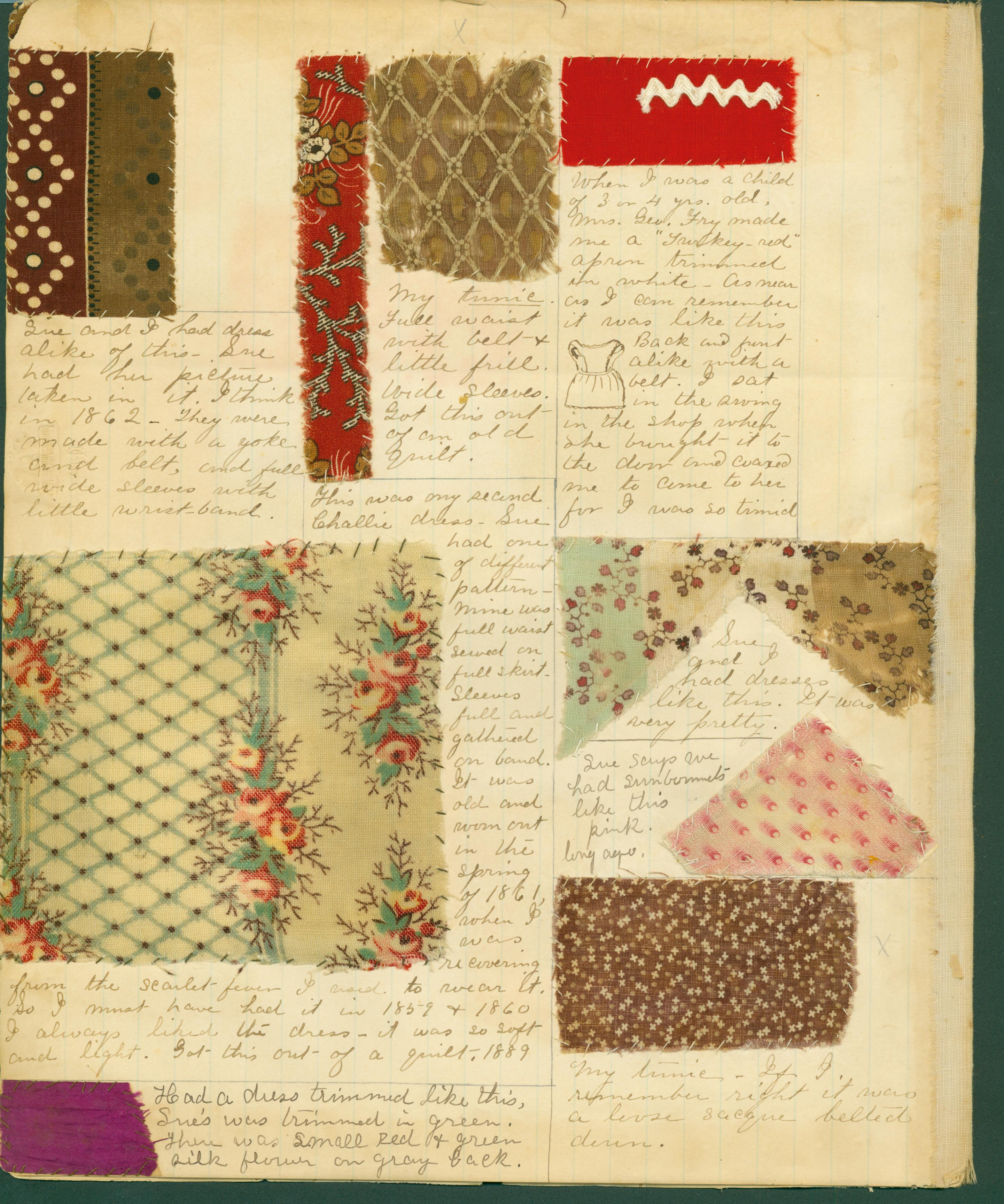 Fabric Diary Page