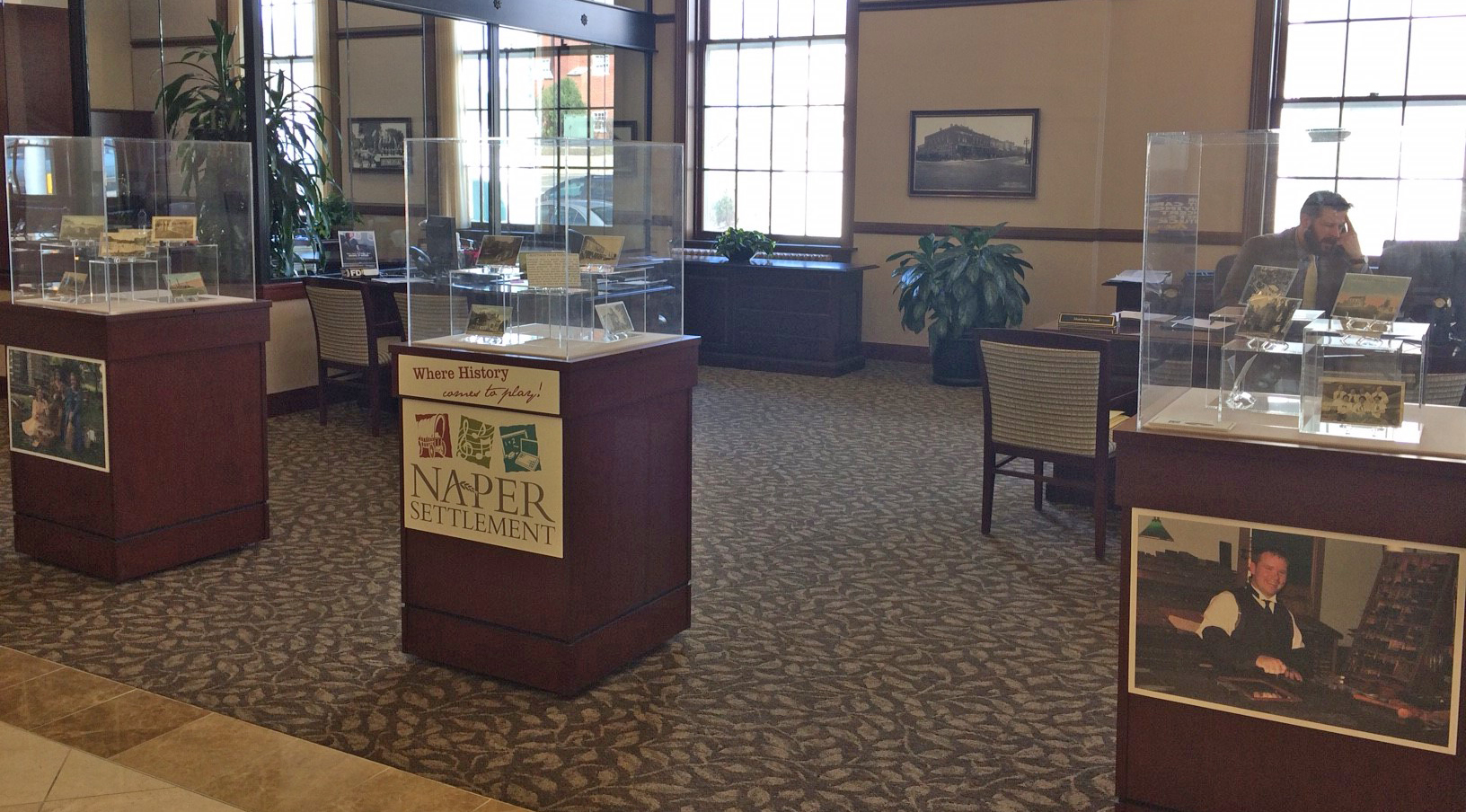exhibit at Naperville Bank and Trust